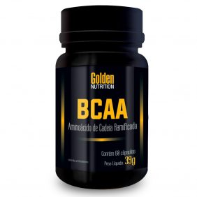 BCAA - Aminoácido de Cadeia Ramificada - 60 Cápsulas - Golden Nutrition2
